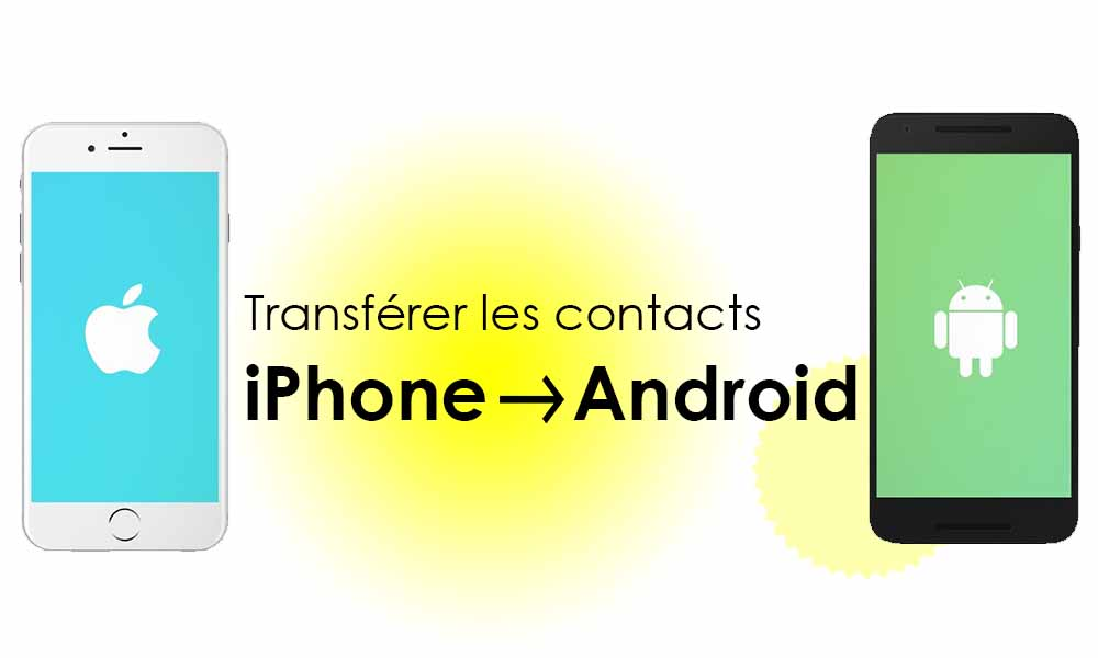 Comment transférer les contacts d'iPhone vers Android – 3 méthodes simples