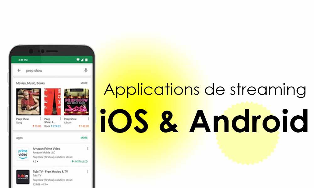 application pour streaming android