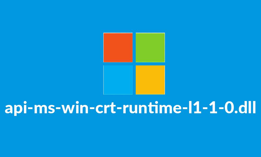 GRATUITEMENT TÉLÉCHARGER API-MS-WIN-CRT-RUNTIME-L1-1-0.DLL